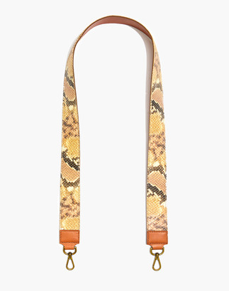 Madewell The Shoulder Bag Strap: Snake Embossed Leather Edition