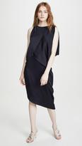 Halston Asymmetrical Drape Dress