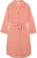 Hanro Crepe Shirt Dress - Blush
