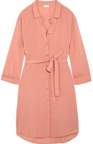 Hanro Lilly Crepe Shirt Dress - Blush