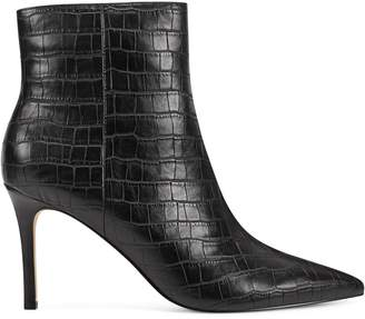 Nine West Croc-Embossed Point Toe Stiletto Bootie