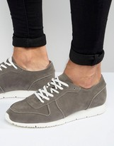 Asos Retro Sneakers in Relaxed Gray Faux Suede