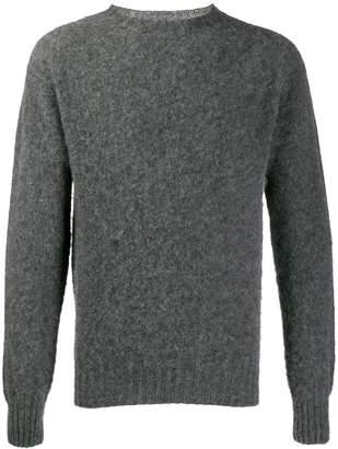 YMC textured knit crew neck sweater