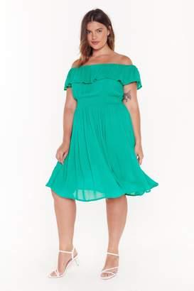 Nasty Gal Womens I'M A Frillseeker Off-The-Shoulder Midi Dress - Green - 16, Green