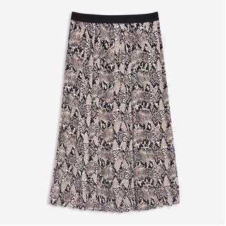 Joe Fresh Women's Pleated Midi Skirt, Dark Taupe (Size XL)