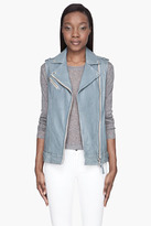 Mackage Pale blue Leather Vest