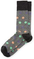 Neiman Marcus Multicolor Polka-Dot Socks