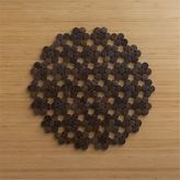 Crate & Barrel Dotty Brown Wooden Placemat