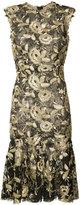 Monique Lhuillier flared hem floral dress