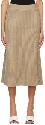 Bottega Veneta Beige Wool Rib Skirt