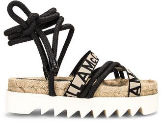 Stella McCartney Gaia Sandals in Black & White | FWRD