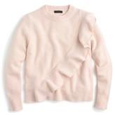 J.Crew Women's Harold Ruffle Boiled Wool Sweater