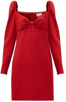 RED Valentino Sweetheart-neck Crepe Mini Dress - Red