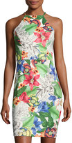 Alexia Admor Floral-Print Scuba Sheath Dress