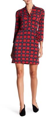Donna Morgan 3/4 Sleeve Printed Jersey Dress