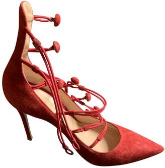 Gianvito Rossi Red Suede Heels
