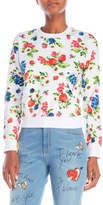 Love Moschino Printed Cropped Sweatshirt