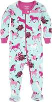 Hatley Toddler Girls' 100% Organic Cotton Footed Sleeper