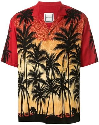 Wooyoungmi Palm Tree Silhouette Degrade Shirt