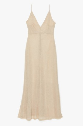 Nasty Gal Womens Let's Knit the Beach Relaxed Maxi Dress - Stone