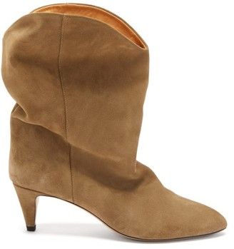 Isabel Marant Dernee Suede Ankle Boots - Beige