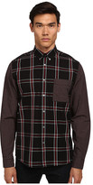 McQ by Alexander McQueen Stipe Pocket Long Sleeve Button Up