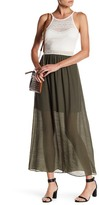 Amy Byer Gauze Skirt Maxi Dress