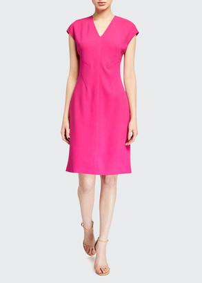 Elie Tahari Fern Crepe Sheath Dress