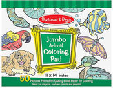 Melissa & Doug NEW Jumbo Colouring Pad Animals