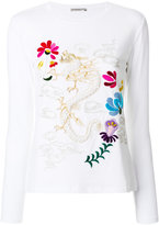 Ermanno Scervino embroidered long-sleeved top