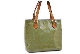 Louis Vuitton Houston Khaki Patent leather Handbags