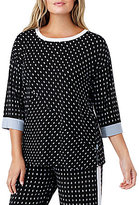 DKNY Plus Dotted Jersey Sleep Top
