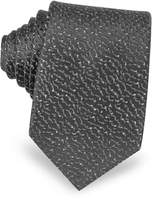 Lanvin Geometric Woven Twill Silk Narrow Tie