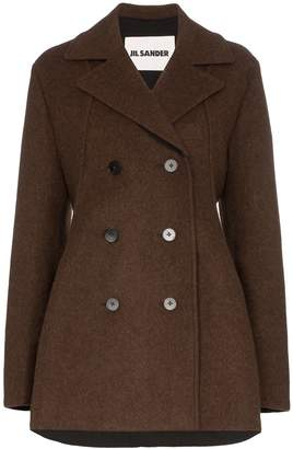 Jil Sander double-breasted peacoat