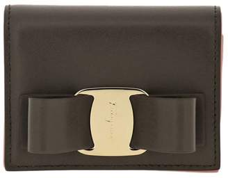 Salvatore Ferragamo Wallet Vara Rainbow Small Wallet In Smooth Leather With Vara Big Bow