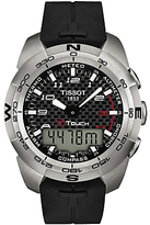 Tissot T0134204720200 T-touch Expert Quartz Chronograph Altimeter Rubber Strap Watch, Black