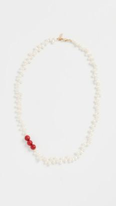 Loren Stewart Coral & Pearl Necklace
