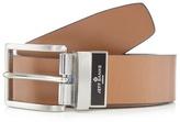 Jeff Banks Big And Tall Designer Tan Leather Reversible Belt