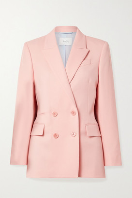 Racil Archie Double-breasted Wool-twill Blazer - Baby pink