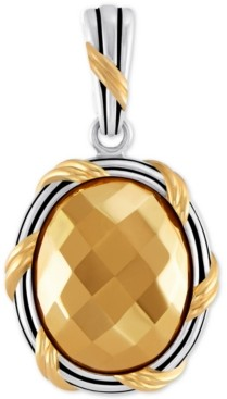Peter Thomas Roth Two-Tone Oval Pendant in Sterling Silver & Gold-Plate