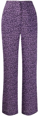 Nanushka Kisa animal print trousers