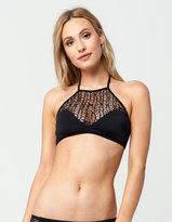 Reef Crochet High Neck Bikini Top