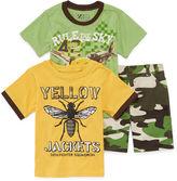 Asstd National Brand 3-pc. Short-Sleeve Tee and Shorts Set - Toddler Boys 2t-4t