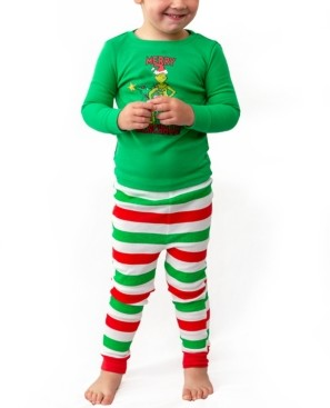 Matching Baby Boys The Grinch Two Piece Pajamas, Online Only