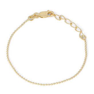 FINE JEWELRY Children's 14K Yellow Gold Over Silver Bead Chain Bracelet