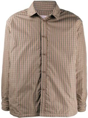 Martine Rose Hakkasan check-print shirt