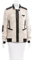 Jason Wu Tweed Leather-Paneled Jacket