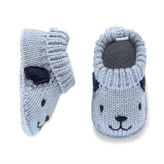 Carter's Blue Puppy Booties-Newborn