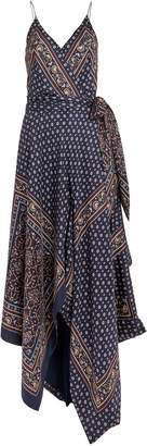 Jonathan Simkhai Bandana Print Sleeveless Wrap Dress