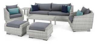 RST Brands Cannes 8 Piece Sofa & Club Chair Set